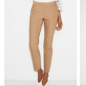 Express Mid Rise Scalloped Ankle Dress Pant